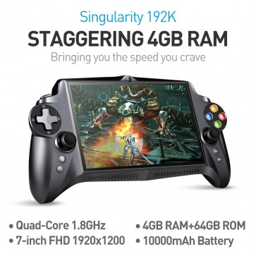 JXD S192K 7 inch 1920X1200 Quad Core 4G/64GB New Handheld Game Player 10000mAh Android 5.1 Bluetooth 4.0 Tablet PC Video Game Console Supports Andriod Games PC Games 18 simulators Games Black (4 meter HDMI Cable as a gift)