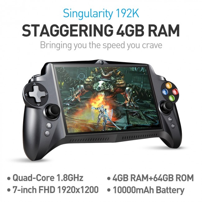 JXD S192K 7 inch 1920X1200 Quad Core 4G/64GB New Handheld Game Player  10000mAh Android 5 1 Bluetooth 4 0 Tablet PC Video Game Console Supports  Andriod