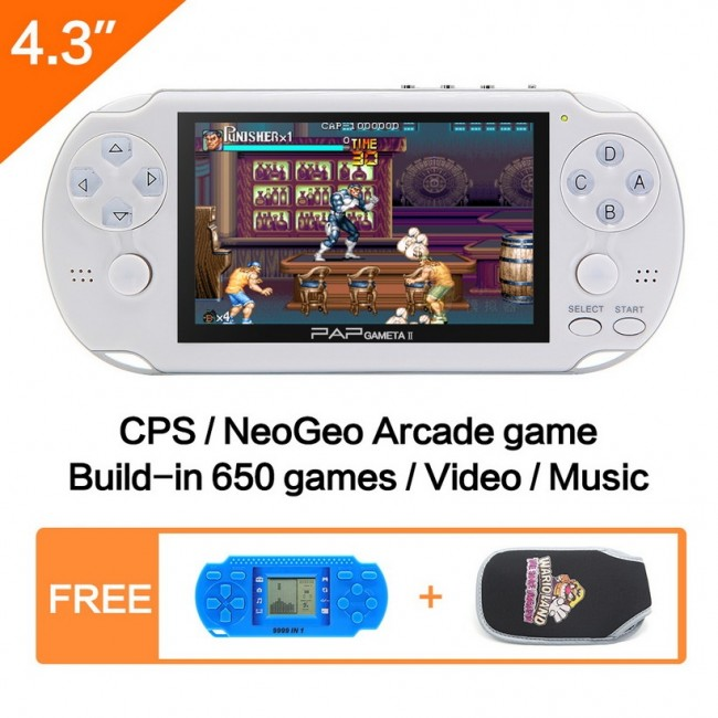 16GB 64Bit Handheld Game Console 43 Video Mp5 Built In 3000