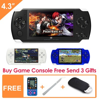 4.3 inch Handheld Game Console 8Gb With Mp4 Mp5 Function Video Game Built In 1200+Real No-repeat for GBA/GBC/SFC/FC/SMD Games