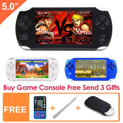 New 8G 32Bit Retro Game Console Built-in 10000 Games 5 Inch LCD Screen with MP4 MP5 Function Support FC/GBA/NES/SF Games Console