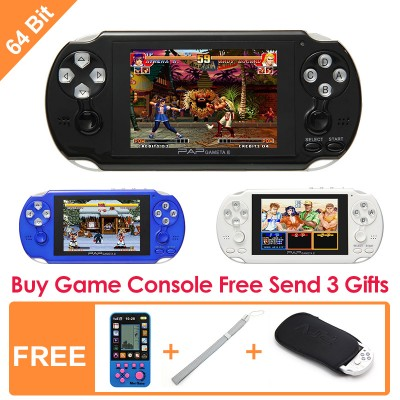64Bit Handheld Game Console 4.0 Inch Mp5 Player Video Game Console Free Retro Games Support AV Cable Portable Gaming Consoles