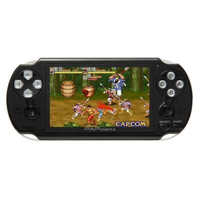 64Bit Handheld Game Console 4.3'' Video Game Console Mp5 Built-in 650/1300 Games for CPS/NEOGEO/SNES/MD/NES/SMS