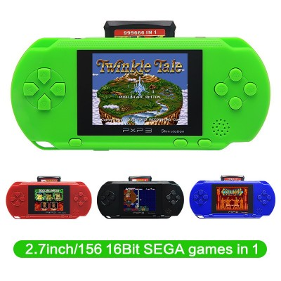 2.7 Inch 16 Bit SEGA Video Game Console Retro Game Handheld Player Portable Game Console Free 156 SEGA Games Designed for SEGA Rechargeable Lithium Battery