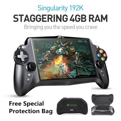 JXD S192K 7 inch 1920X1200 Quad Core 4G/64GB New Handheld Game Player 10000mAh Android 5.1 Bluetooth 4.0 Tablet PC Video Game Console Supports Andriod Games PC Games 18 simulators Games Black (Free Special protection package)