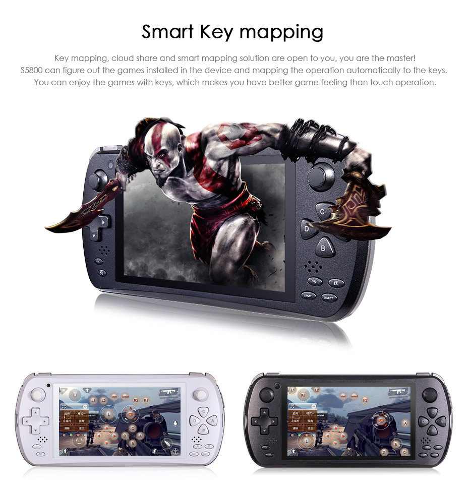 JXD S5800 3G Phone Game Console