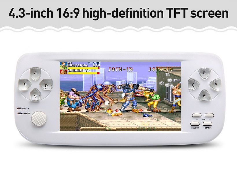 Dual-core 4 3 inch screen 16GB 64Bit Handheld Video Game Console build in  3000 no-repeat game for NEOGEO\CPS\GBA\GBC\GB\SFC\FC\MD\GG\SMS MP3/4