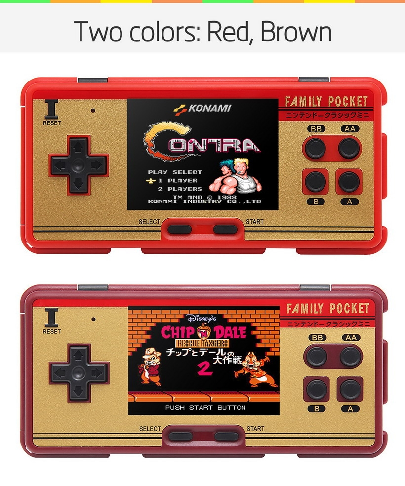 3 0 inch new super family pocket retro video game console handheld game console built